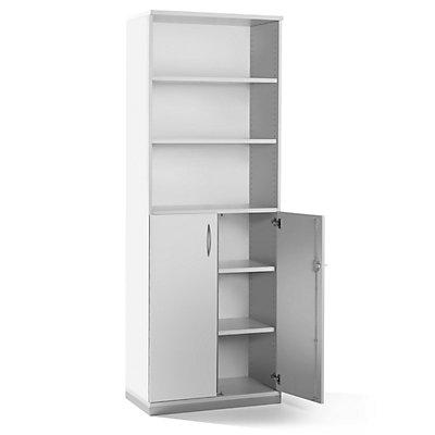 fm büromöbel HANNA Regalschrank - 5 Fachböden, 2 Türen unten