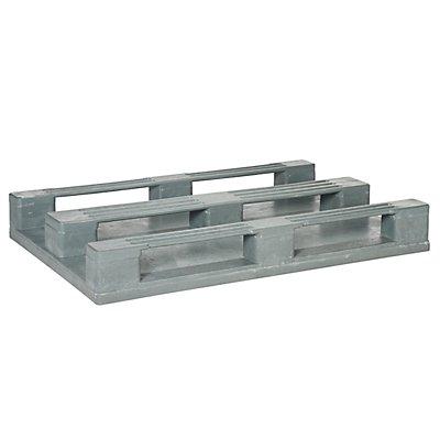 Vielzweck-Kunststoffpalette, mit Stahleinlage - LxBxH 1200 x 800 x 150 mm