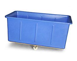 Großbehälter aus Polyethylen, fahrbar - Inhalt 625 l - blau