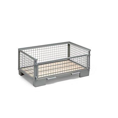 Gitterbox, mittelhohe Bauform - 1 Längswand voll abklappbar