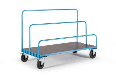 EUROKRAFT Platten-Transportwagen ohne Bügel - Ladefläche 1600 x 800 mm