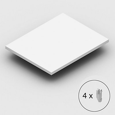 Fachboden extra, inkl. Bodenträgern - lichtgrau