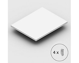 hofe Fachboden extra, inkl. Bodenträgern - kunststoffbeschichtet, lichtgrau - BxT 1000 x 800 mm