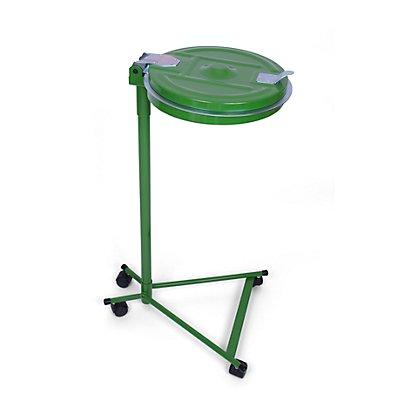 Abfallsackhalter für 120-l-Sack - 4-Rad-Fahrgestell