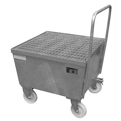 BAUER Auffangwanne fahrbar, Stahlblech - für 200-l-Fass, 1 x stehend