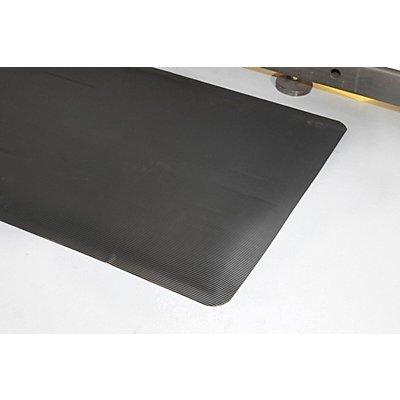 Tapis ergonomique strié - largeur 900 mm, au mètre, 2 épaisseurs - poids 6 kg
