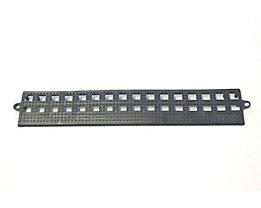 COBA Randleiste für Flexi-Deck - ohne Verbindungsleiste, VE 3 Stk - schwarz