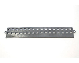 Lisière de plancher Flexi - sans latte de liaison, lot de 3 - gris