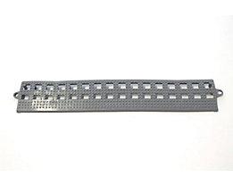 COBA Randleiste für Flexi-Deck - ohne Verbindungsleiste, VE 3 Stk - grau