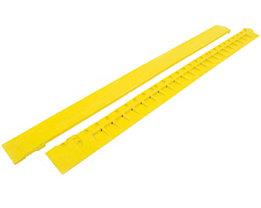 Auffahrkante, gelb - aus Nitrilgummi, Länge 900 mm - mit Aussparungen