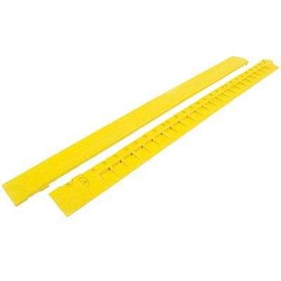 COBA Auffahrkante, gelb - aus Nitrilgummi, Länge 900 mm