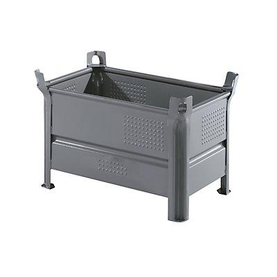 Heson Vollwand-Stapelbehälter, BxL 500 x 800 mm - Füllhöhe 400 mm, Traglast 500 kg