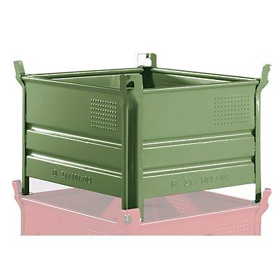 Heson Vollwand-Stapelbehälter, BxL 800 x 1000 mm - Füllhöhe 500 mm, Traglast 2000 kg
