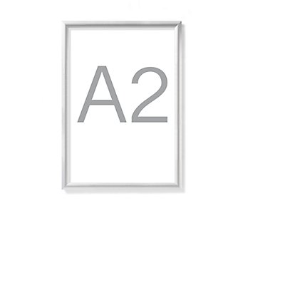 Design-Klapprahmen - Aluminiumprofil, silber eloxiert, VE 2 Stk