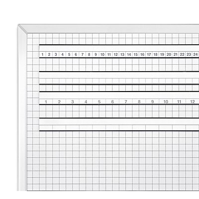 magnetoplan® ferroscript® Rastertafel - Raster 11 x 11 mm - BxH 900 x 600 mm