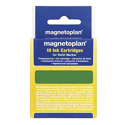 magnetoplan® Ersatzpatrone - für Refill-Marker, 4 VE à 10 Stk - schwarz