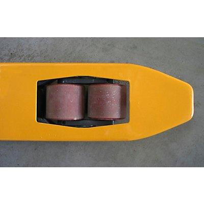 Paletthubwagen, extralang - Gabellänge 2500 mm, Tragfähigkeit 2000 kg, gelb
