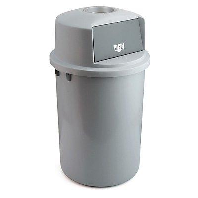 Abfallsammler aus Kunststoff, mit Schwingdeckel, Kunststoff, Inhalt 126 l, ohne Ascheraufsatz