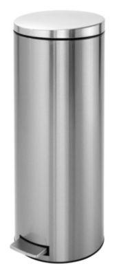 Tret-Abfallsammler, Inhalt 20 l, Höhe 660 mm, Edelstahl, matt