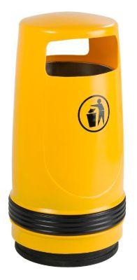 Collecteur de déchets, capacité 90 l, Ø 490 mm, jaune Accessoires de... par LeGuide.com Publicité