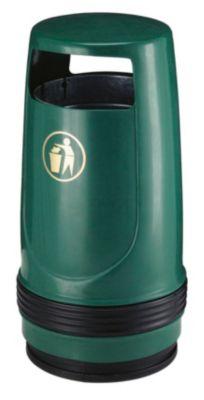 Collecteur de déchets, capacité 90 l, Ø 490 mm, vert Accessoires de fixation... par LeGuide.com Publicité