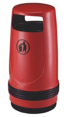 Collecteur de déchets, capacité 90 l, Ø 490 mm, rouge Accessoires de... par LeGuide.com Publicité