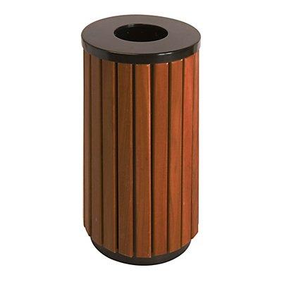 Abfallsammler, Holz-Optik - Höhe 755 mm, rund