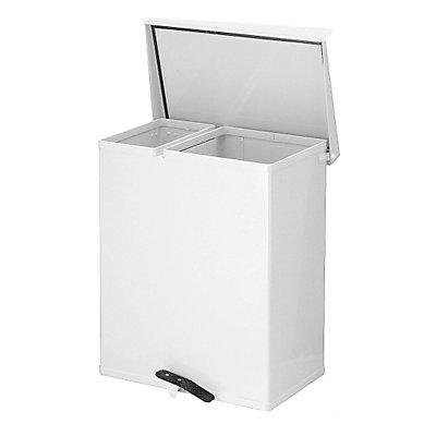 Wertstoffsammler aus Aluminium, Aluminium, weiß