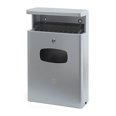 Abfallsammler mit Ascher - Inhalt 16 l