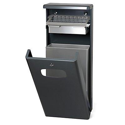 Abfallsammler mit Ascher - Inhalt 32 l