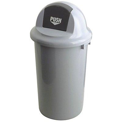 Abfallsammler, mit Klappdeckel - Kunststoff