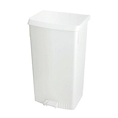 Tret-Abfallsammler, Kunststoff, weiß