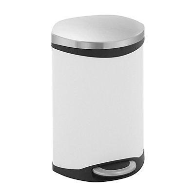Design-Abfallsammler - Korpus Stahlblech weiß lackiert