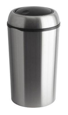 Edelstahl-Abfallsammler SWING TOP - rund, mit 75 Litern Volumen - Höhe 710 mm, Ø 400 mm