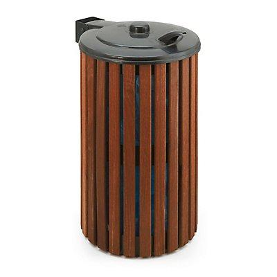Abfallsammler, Inhalt 110 l, grau/Holz