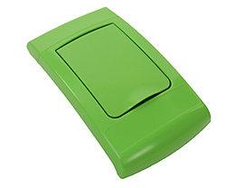 Klappdeckel, Kunststoff, grün