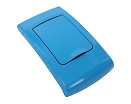 Klappdeckel, Kunststoff, blau
