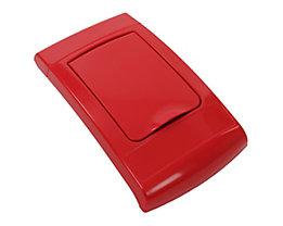 Klappdeckel, Kunststoff, rot