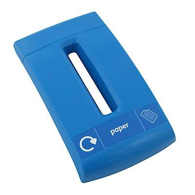 Papierdeckel, Kunststoff, blau