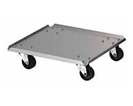 Rollwagen, für Abfallbehälter, Aluminium, LxB 310 x 310 mm
