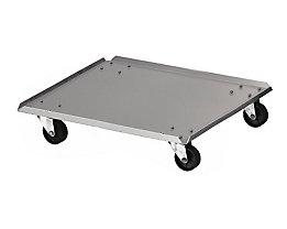 Rollwagen, für Abfallbehälter, Aluminium, LxB 370 x 370 mm
