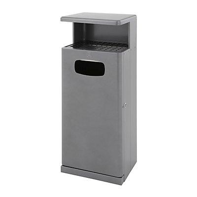Abfallsammler mit Ascherdach - Aluminium