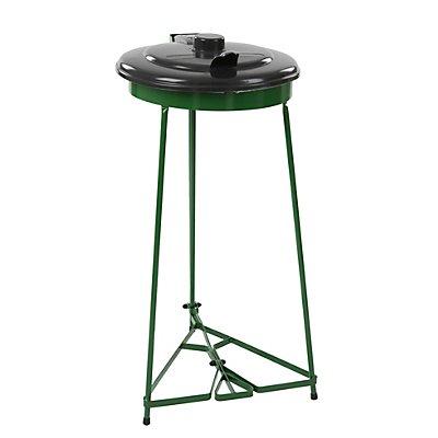 Abfallsackständer mit Pedal, mit Kunststoffdeckel, für Sackinhalt 110 l