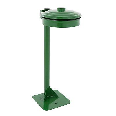 Abfallsackhalter, grün, für Sackinhalt 110 l, mit Bodenplatte
