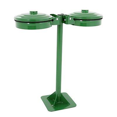 Abfallsackhalter, grün, für Sackinhalt 2 x 110 l, mit Bodenplatte