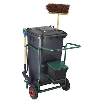 Mülltonne-, Fahrgestell-Set, für 1 Tonne, Gewicht 33,8 kg