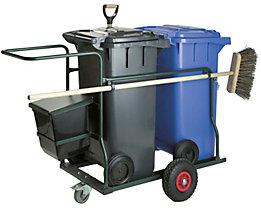 Mülltonne-, Fahrgestell-Set - für 2 Tonnen