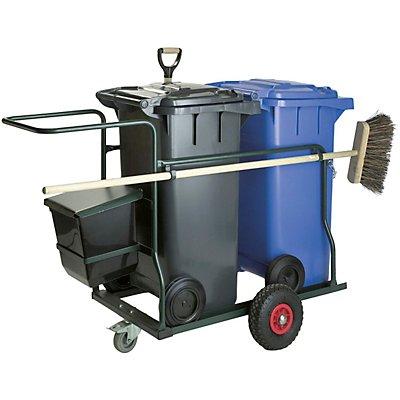 Mülltonne-, Fahrgestell-Set, für 2 Tonnen, Gewicht 44,5 kg