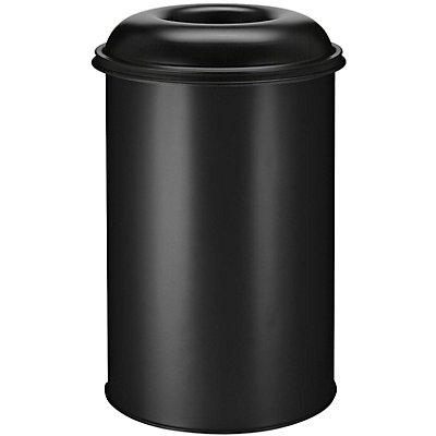Papierkorb, selbstlöschend, Inhalt 200 l, Höhe 950 mm, schwarz