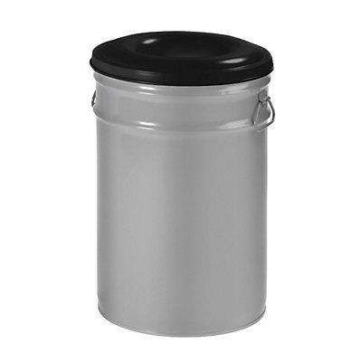 Papierkorb, selbstlöschend, Inhalt 60 l, selbstlöschend, Aluminium